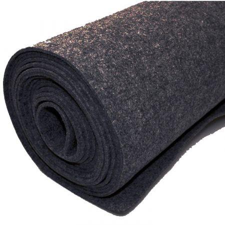 Vilt bekleed tapijt - Zwart - 200 x 500 cm